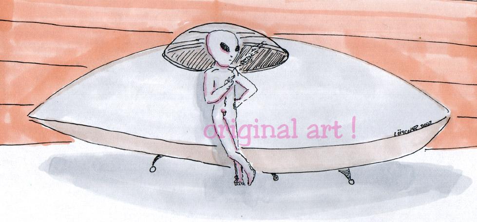 Alien Craft Parked in Driveway