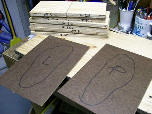 making the mould box - outline of foot