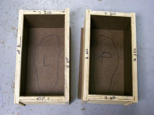 completed mould box